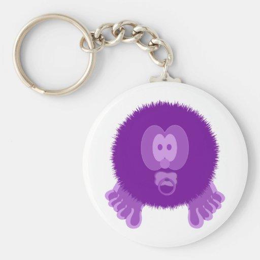 Llavero púrpura de Pom Pom PAL del bebé