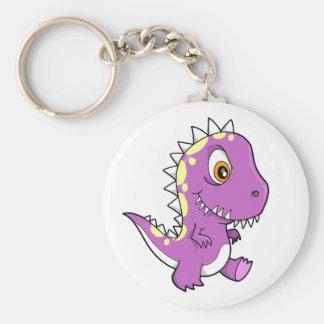 Llavero púrpura del dinosaurio del monstruo