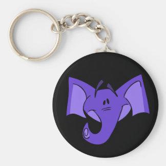 Llavero púrpura del elefante