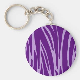 Llavero púrpura del estampado de animales