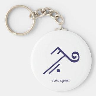 Llavero púrpura del símbolo de SymTell que acepta