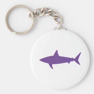 Llavero púrpura del tiburón