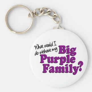 Llavero púrpura grande de la familia