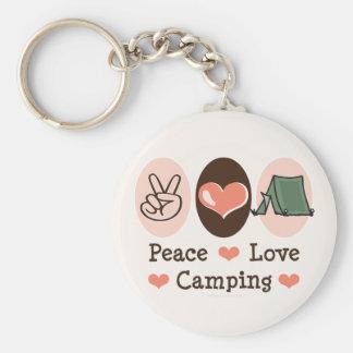 Llavero que acampa del amor de la paz