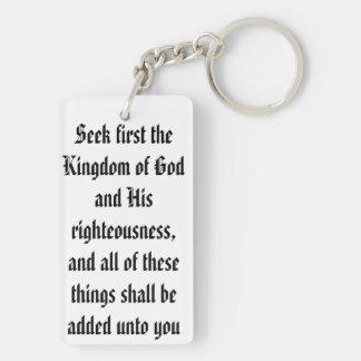 Llavero que ofrece el 6:33 de Matthew