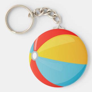 Llavero rayado colorido del botón de la pelota de