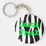 Llavero rayado de la cebra anormal de Jesús