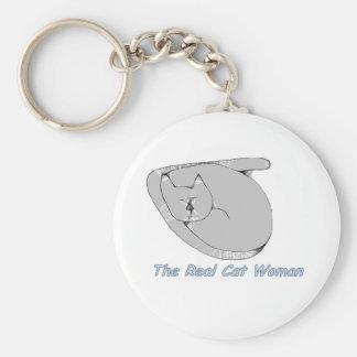 Llavero real de la mujer del gato
