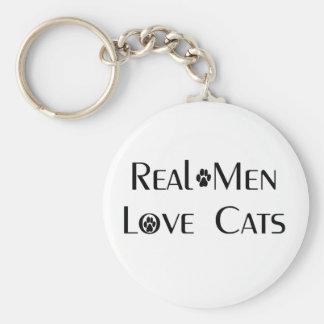 Llavero real de los gatos del amor de los hombres