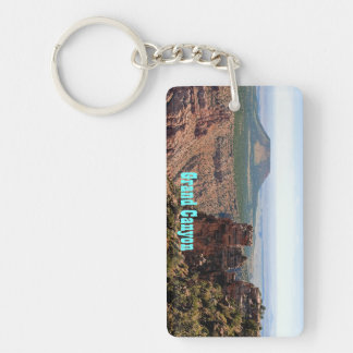 Llavero rectangular de Vista del desierto del Gran