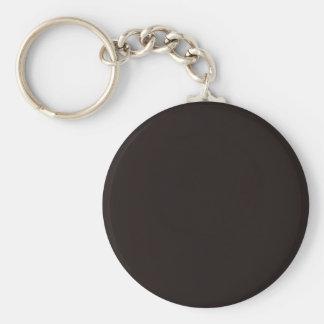 Llavero redondo básico negro del botón del regaliz