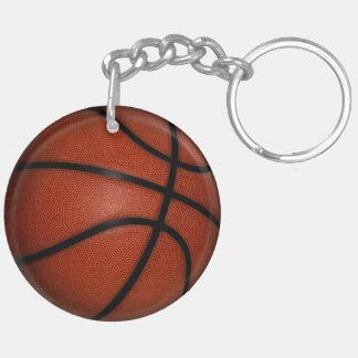 Llavero redondo de doble cara del baloncesto