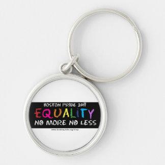Llavero redondo de la igualdad