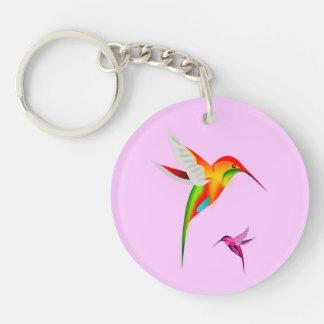 Llavero redondo del asilo del colibrí