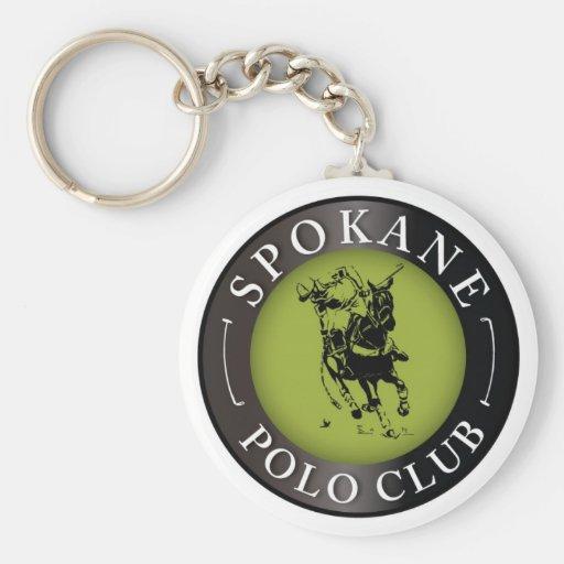 Llavero redondo del club del polo de Spokane