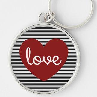 Llavero redondo del corazón del amor