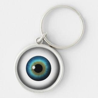 Llavero redondo superior del ojo extraño fresco