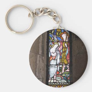 Llavero religioso de la ventana del vitral