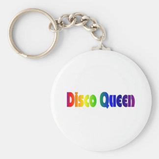 Llavero retro de la reina 80s del disco