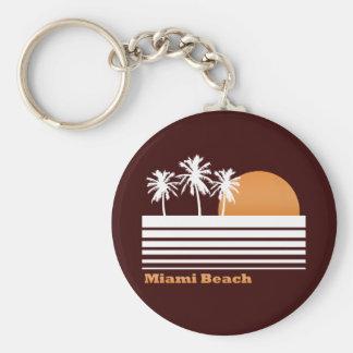 Llavero retro de Miami Beach