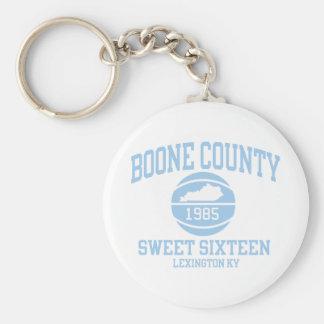 Llavero retro del condado de Boone 1985