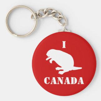 Llavero rojo blanco del castor del día de Canadá