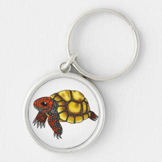Llavero Rojo-Con base de la tortuga de la