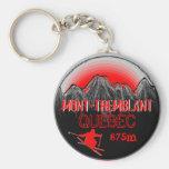 Llavero rojo de la elevación del esquí de Mont Tre