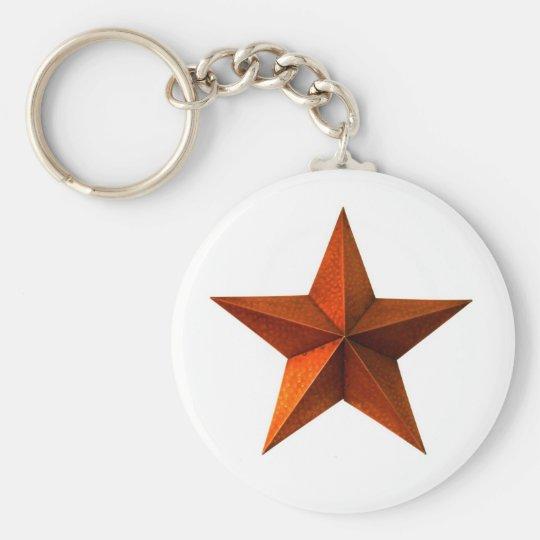 Llavero rojo de la estrella