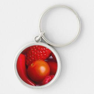 Llavero rojo de la fruta y de las verduras/llavero