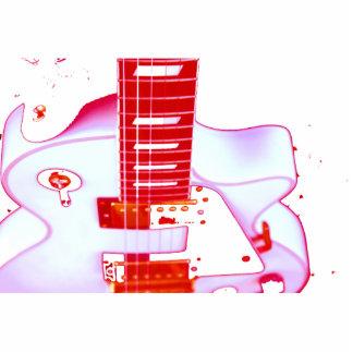 llavero rojo de la guitarra llavero fotográfico