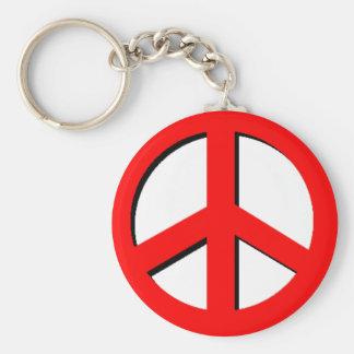 Llavero rojo de la paz