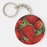 Llavero rojo de las fresas