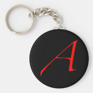 """Llavero rojo del ateo """"A"""""""