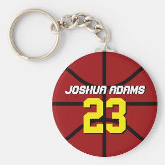 Llavero rojo del baloncesto de los atletas del