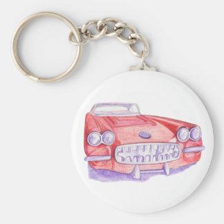 Llavero rojo del coche del juguete