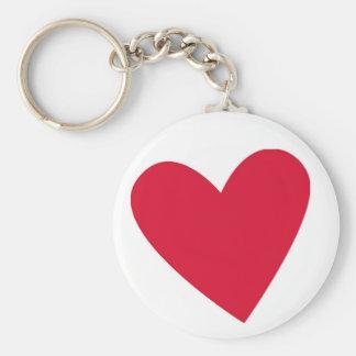 Llavero rojo del corazón