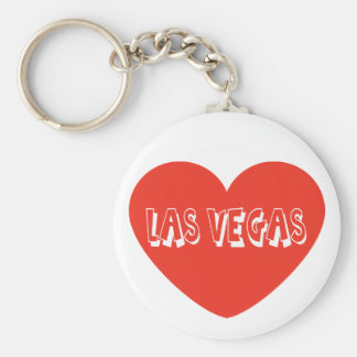 Llavero rojo del corazón de Las Vegas Nevada del a