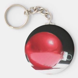 Llavero rojo del ornamento