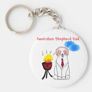 Llavero rojo del papá del pastor australiano