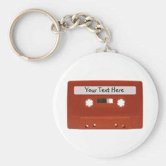 Llavero rojo del personalizable de la cinta de cas