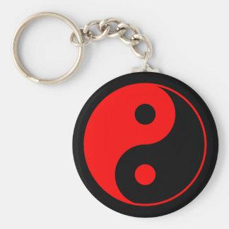 Llavero rojo del símbolo de Yin Yang