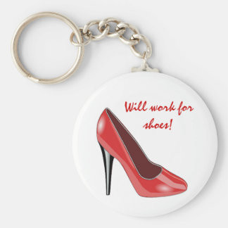 Llavero rojo del zapato del tacón alto