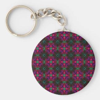Llavero - rojo púrpura del verde del rosa del