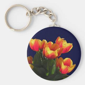 Llavero rojo y amarillo de los tulipanes de la pri