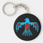 Llavero rojo y azul de Thunderbird
