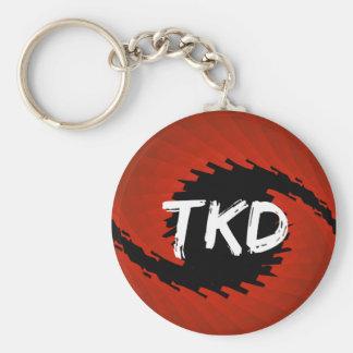 Llavero rojo y negro del huracán de TKD