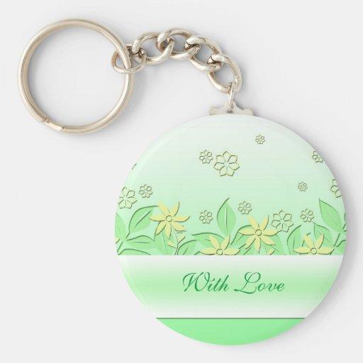 Llavero romántico verde del jardín