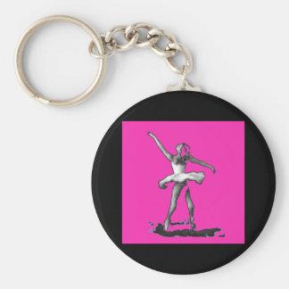 Llavero rosado de la bailarina