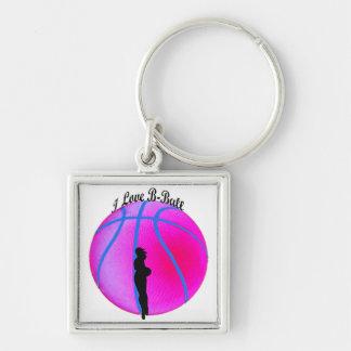 Llavero rosado de la diva del B-Ball de SimplyTonj